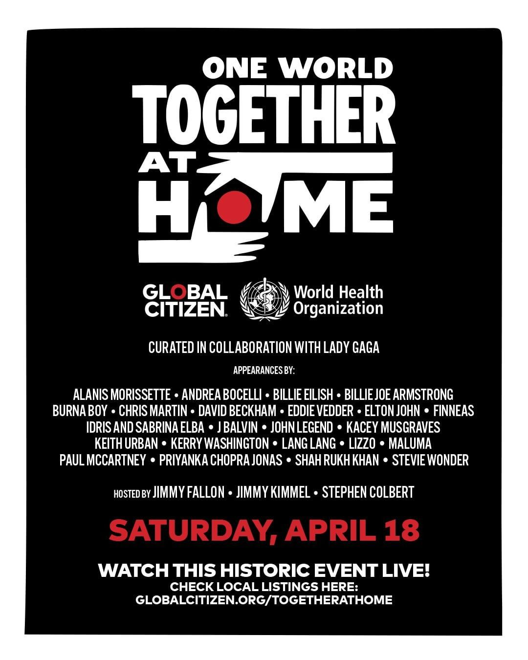 One World Together At Home poster