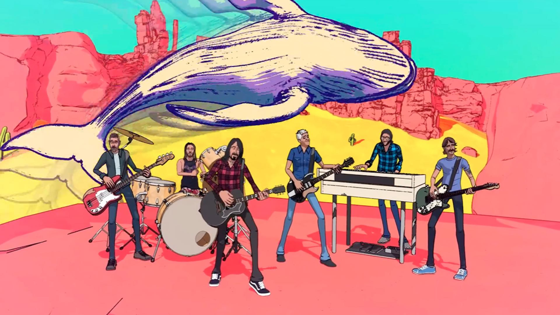 Foo Fighters comparte video animado para  'Chasing Birds'